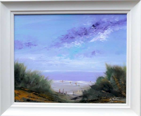 Family at the Beach Seascape Painting by artist Rine Philbin
