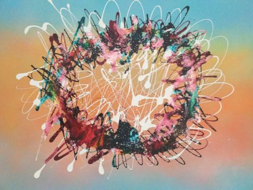Woopsadaisy Contemporary Abstract painting by artist Kevin Sharkey