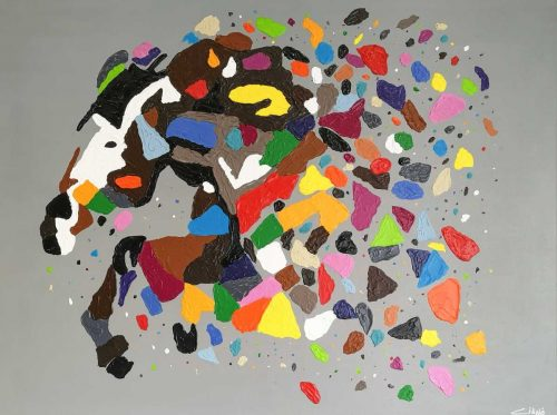 Gallop Original Abstract Horse Painting by Irish artist Ciano