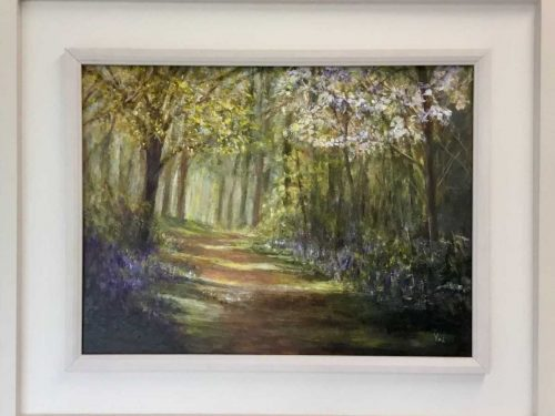 Into the Woods  Landscape painting by Irish artist Valerie Dennigan