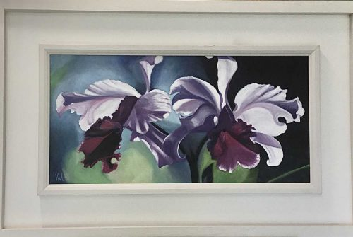 Iris Floral painting by Irish artist Valerie Dennigan