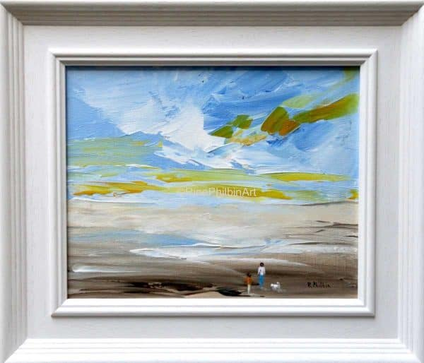 Morning on the Beach Seascape Painting by artist Rine Philbin
