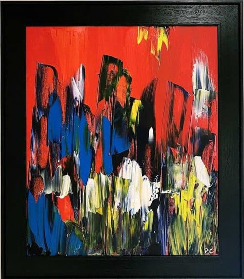 Bláthanna Abstract painting by Irish Artist Paul Crozier