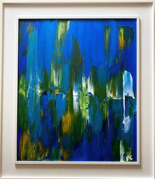 Fission Abstract painting by Irish Artist Paul Crozier