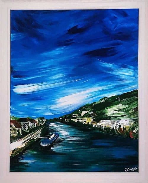 Summer in Heidelberg Contemporary Abstract Seascape Painting