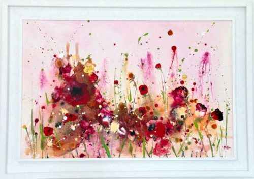 Summer Heat This is a large original painting in this summer's collection of flower paintings by artist Rine Philbin