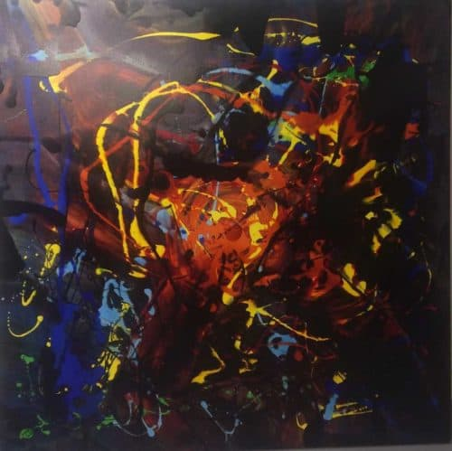 The Sun the Moon and the Stars Contemporary Abstract painting by artist Kevin Sharkey