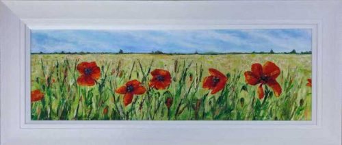 Dancing Poppies Floral Art Painting by Irish artist Noella Manley