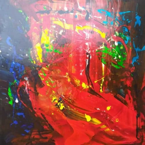 Passion ( Large Painting) Contemporary Abstract painting by artist Kevin Sharkey