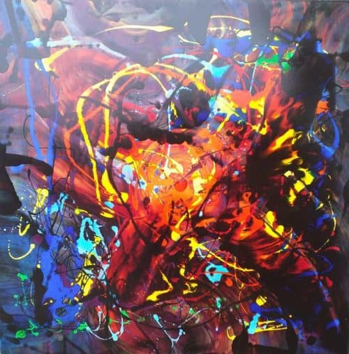 You Are My World ( Large Painting) Contemporary Abstract painting by artist Kevin Sharkey