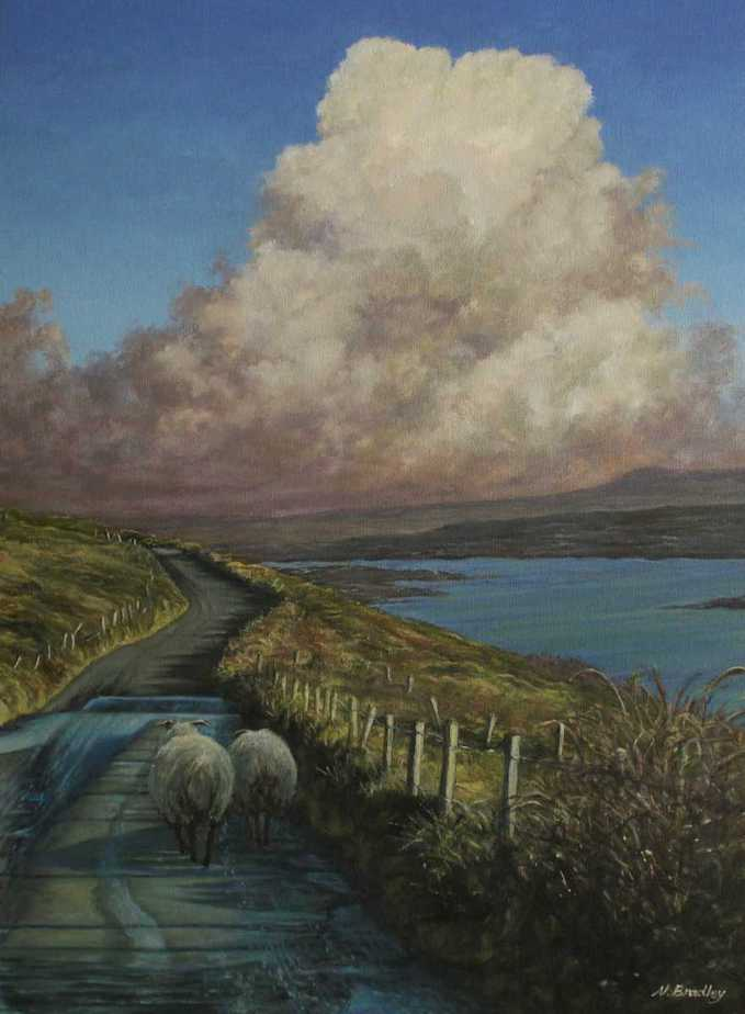 The Road Home Landscape painting by artist Nana Bradley