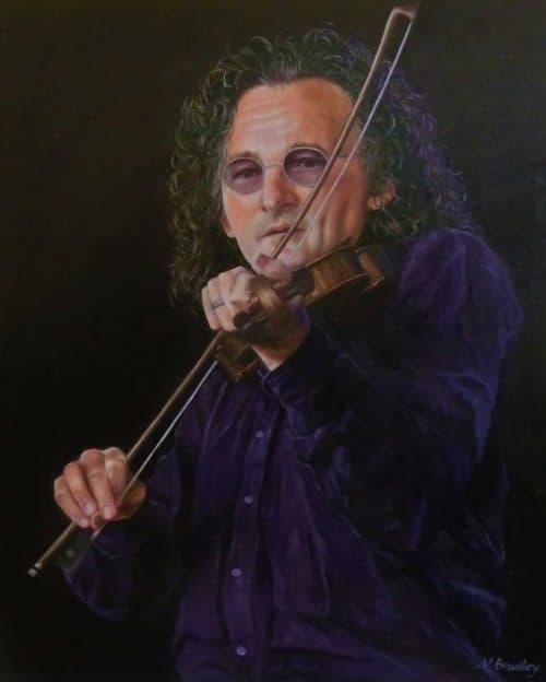 Martin Hayes Figurative painting by artist Nana Bradley