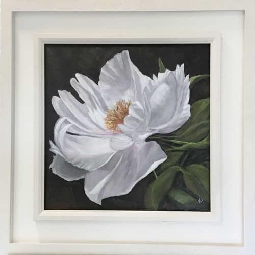 Peony Rose Floral painting by Irish artist Valerie Dennigan