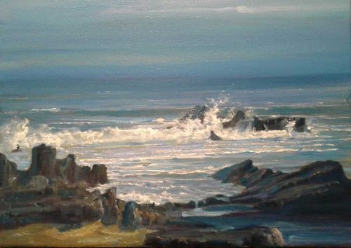 Reminiscence Seascape Painting by Brian Scampton