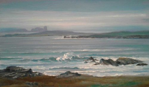 The Coast near Gweedore, Donegal Seascape Painting by Brian Scampton