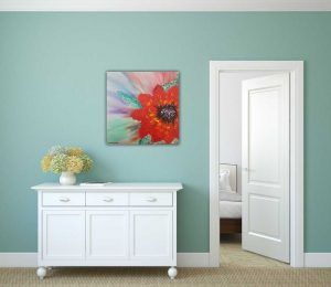 ALL ALONE floral painting by artist Dorota Raczynska. Browse through our large selection of art for sale on Ireland's fastest growing online art gallery