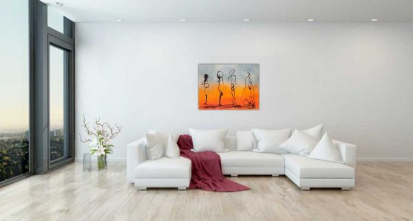 The Snobs Contemporary Abstract painting by artist Kevin Sharkey