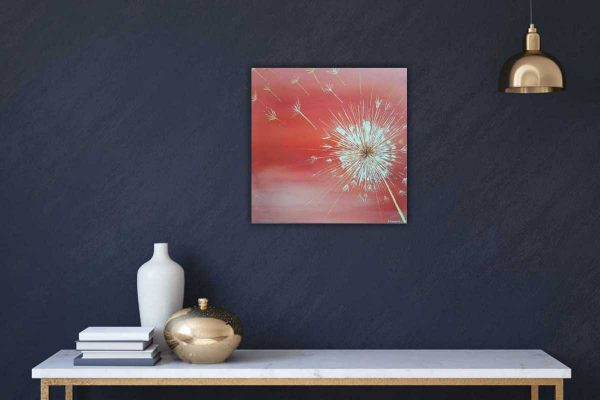 WISHING FLOWER floral painting by artist Dorota Raczynska. Browse through our large selection of art for sale on Ireland's online art gallery