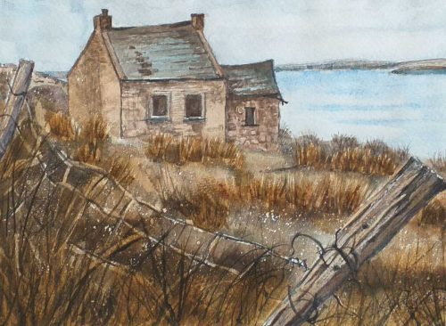 Old Cottage in Donegal Watercolour Painting for Sale