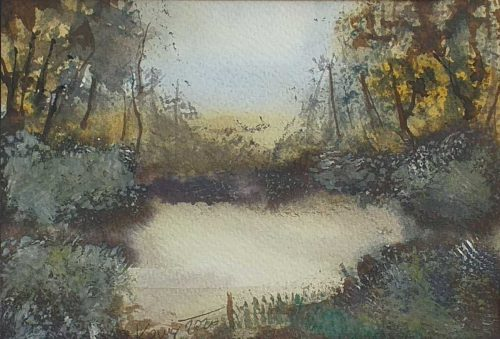 Glade Landscape Watercolour Painting for Sale