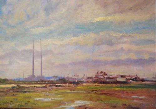 Twin Chimneys Painting by artist Norman Teeling