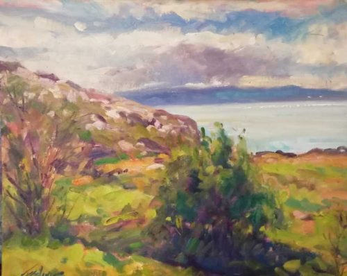 Painting of Howth For sale by artist Norman Teeling
