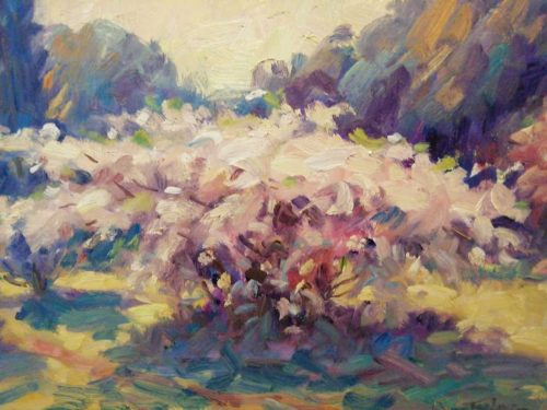 Apple Blossoms Painting for sale by artist Norman Teeling