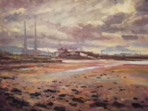 DollyMount Landscape Painting  for sale by artist Norman Teeling