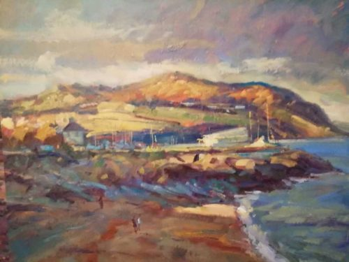 Bray Head - From Greystones Landscape Painting by artist Norman Teeling