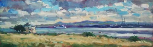 Dublin Bay From Howth Landscape/ Seascape  Painting  by artist Norman Teeling
