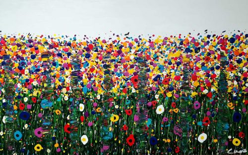 Darling Buds Large Abstract Painting