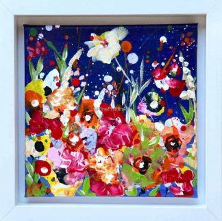 Mid summer garden abstract floral painting for sale