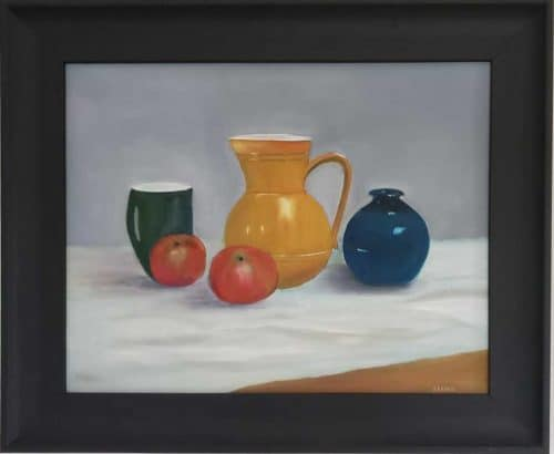 Grandma's Kitchen Modern still life  painting by artist Angela Larkin