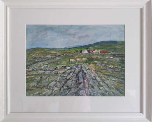The Burren Landscape Painting of the Burren in County Clare