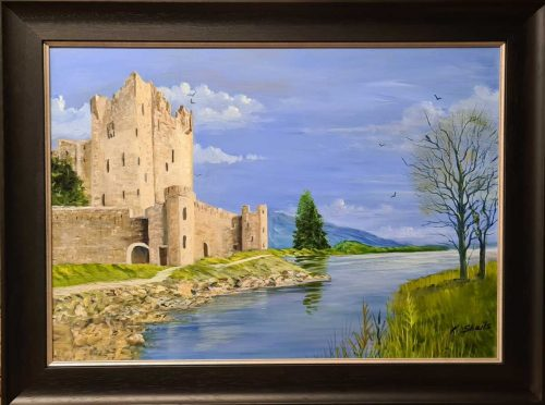 Ross Castle Killarney County Kerry Landscape Painting by Irish artist Kathleen Sheils