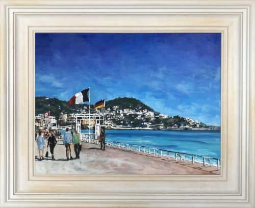 Promenade des Anglais, Nice, Cote d'Azur' Painting of Promenade in Nice , France by artist Ben Linehan