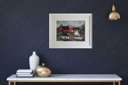Moy Cottages Painting of traditional Irish cottages by artist Joan O'Connell