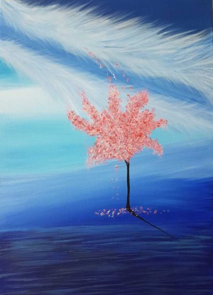painting of a CHERRY BLOSSOM TREE
