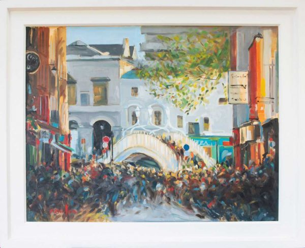 painting of The Ha'penny Bridge in Autumn Light
