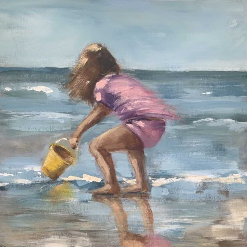 Child With Yellow Bucket