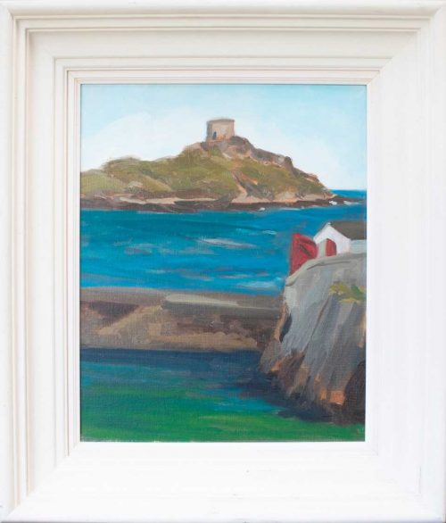 painting of a Dull Day at Dalkey Island