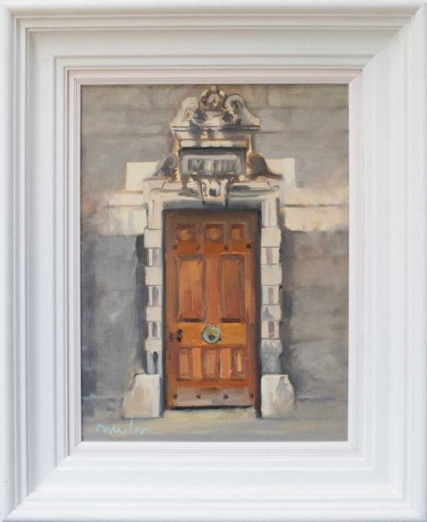 Painting of A Doorway in Trinity College Dublin
