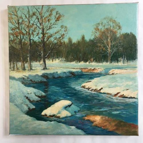 Winter on river Francis