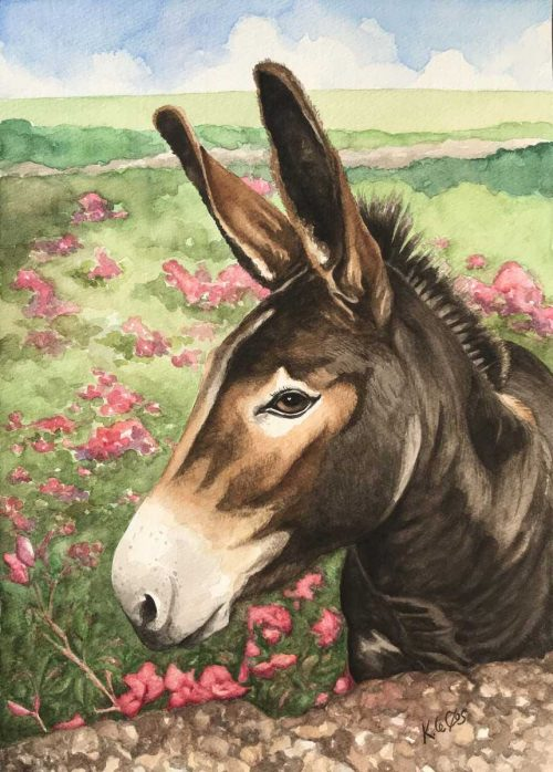 The Little Donkey Animal art