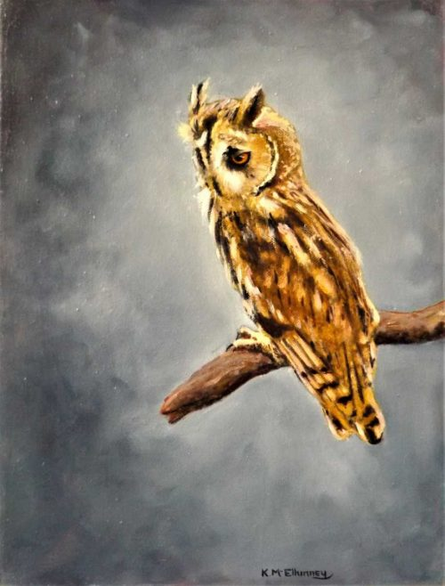 Long Eared Owl Painting for sale