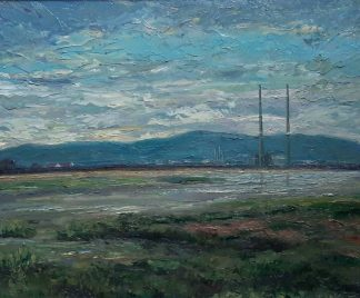 painting of Dublin view Dollymount