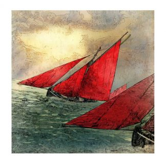 Galway Hooker, Wild Atlantic Way Print 1