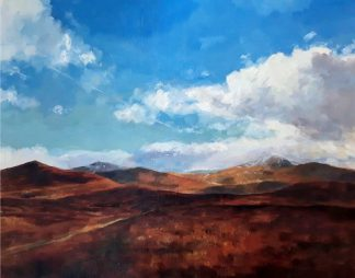 painting of Dublin and Wicklow Mountains