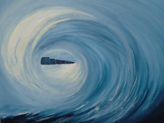painting of Surf's up at the Cliffs of Moher
