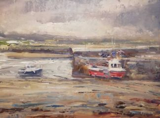 Rush Harbour Painting for sale by Irish artist Norman Teeling
